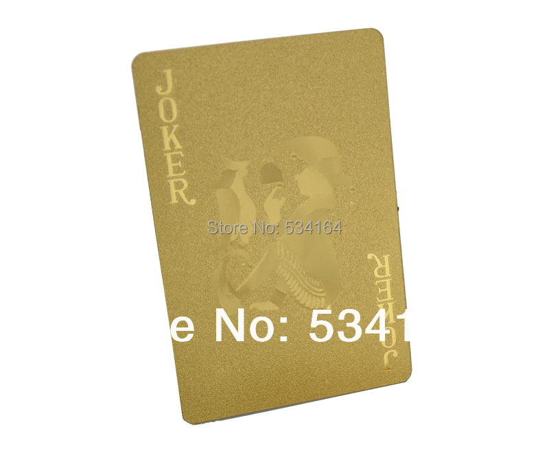 ONE DECK PLASTIC POKER NORMAL VERSION 24K GOLD FOIL PLAYING CARDS