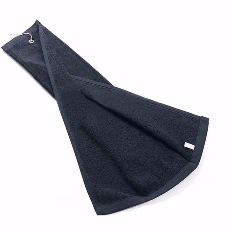Custom Logo 100 Cotton Golf Towel Size 40cmX60cm Sports Towels with Metal Hook Golf Accessories 100pcs