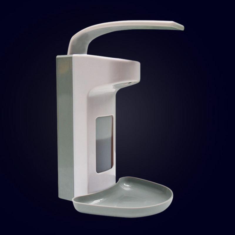 9.4*15.3*20.3 cm 2pcs Disinfection Plastic Elbow Pressure Soap Dispenser Wall mounted Hand Sanitizer Bottle 500ml