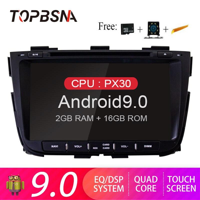 TOPBSNA Car DVD Multimedia Player Android 9.0 For Kia Sorento 2013 2014 2015 2 Din Car Radio Multimedia WIFI Stereo Headunit RDS