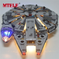 MTELE Led Light Building Blocks Set For Star Wars The Force Awakens Millennium Falcon Model 05007