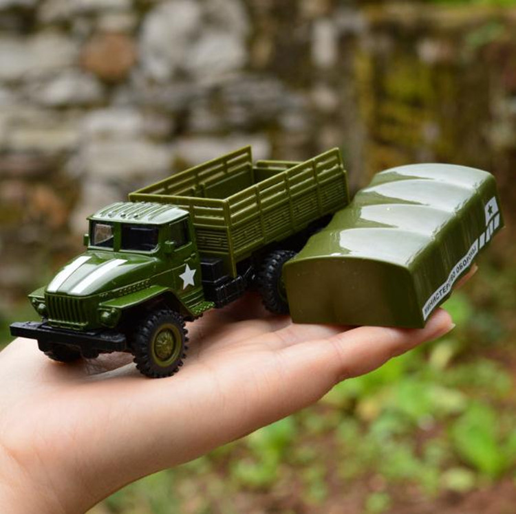 1:64 Alloy Pull Back Military Vehicle Model,high Simulation Military Truck Toy,metal Diecasts,toy Vehicle,free Shipping
