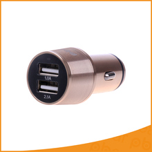 Mini USB Car Charger 5V 2.1A Metal Casing Dual USB Ports  Universal Car Charger Travel Adapter For All Mobile Phone
