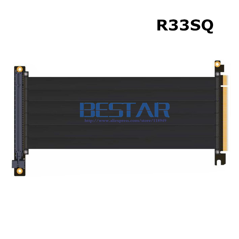 Riser PCI-E x16 To x16 graphics card upright Riser Extension ribbon Cable For Alpha 550RGB 330 Water cooled Tower case PCIe 16x
