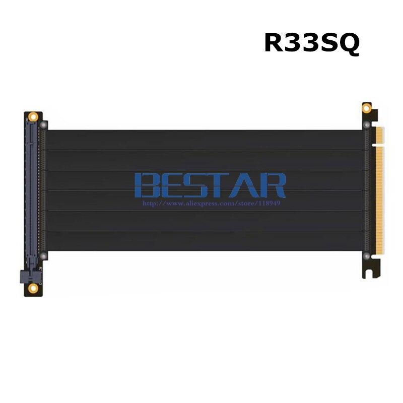 Riser PCI-E x16 À x16 carte graphique debout Riser Extension ruban Câble Pour Alpha 550RGB 330 refroidi à L'eau Tour cas PCIe 16x