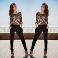 elegant jumpsuit bodysuit rompers womens jumpsuits Sexy Women Leopard Backless Clubwear Playsuit 2016 Rompers Long Trousers