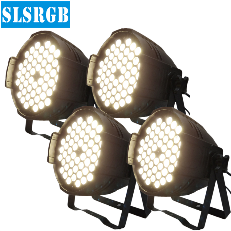 4pcs/lot Warm White 3w 54pcs led par 64 led lighting lamp led par 54*3w warm white color led light for par64 led stage disco dj купить недорого в Москве