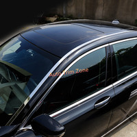 Stainless Steel Exterior Upper Roof Mouldings Trim 4PCS For BMW 7 Series G12 2016 2018 Long Wheelbase