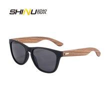 Hombres Gafas De Sol De Madera de Bambú de Madera gafas de Sol de Recubrimiento Espejo de la Vendimia Gafas de Sol Para Mujeres Moda Gafas gafas de Sol 6100