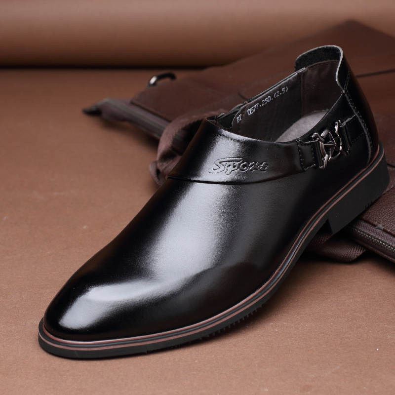 Man Leather Shoes Dress Shoes Low Trend Business Leisure Foot Male Shoes