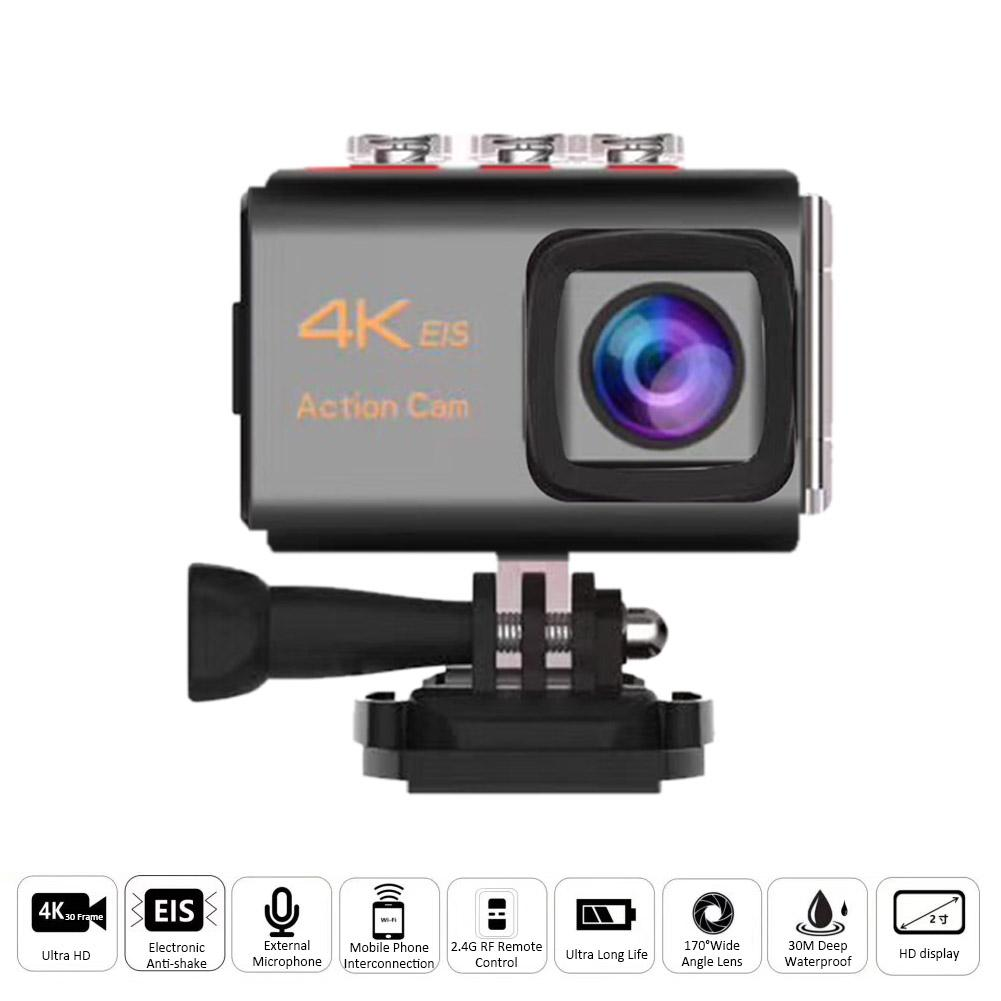 4K Remote Control Anti-shaking 2.4G Sports DV Waterproof Camera WiFi High Definition Waterproof Sports Camera цена 2017
