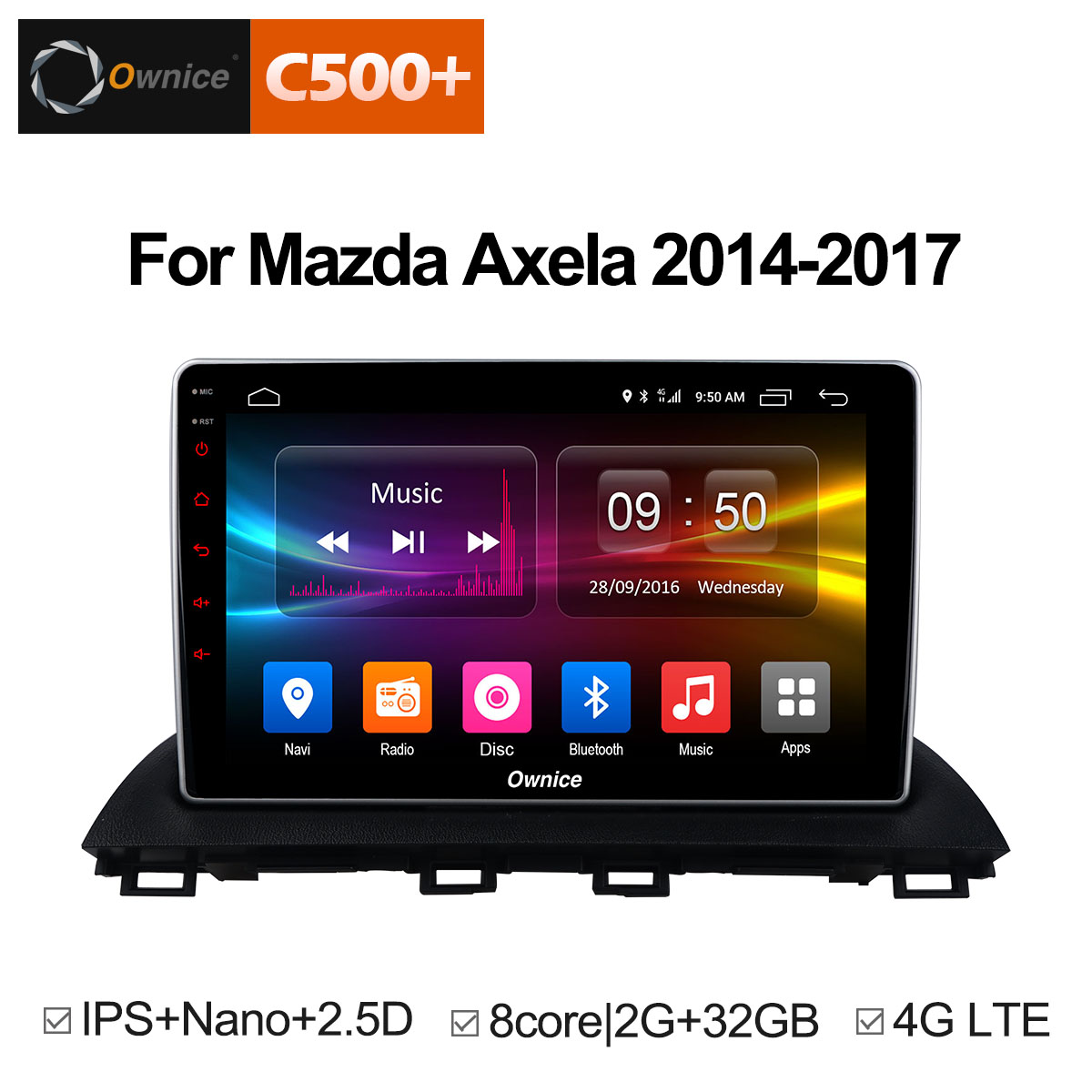 Ownice C500+ G10 Android 8.1 Octa Core car radio 2 din GPS Navi for Mazda 3 Axela 2014 2015 2016 HD 10.1 Supprot DVD 4G LTE ownice c500 4g sim lte octa 8 core android 6 0 for kia ceed 2013 2015 car dvd player gps navi radio wifi 4g bt 2gb ram 32g rom