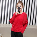 2016 new winter Solid cute loose retro bat head sweater women sweaters women Loose Leisure pullover