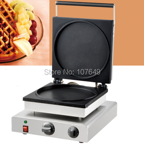 110v 220V Commercial Use Non-stick Electric Pancake Waffle Maker Iron Baker Machine free shipping commercial use non stick 110v 220v electric 8pcs square belgian belgium waffle maker iron machine baker