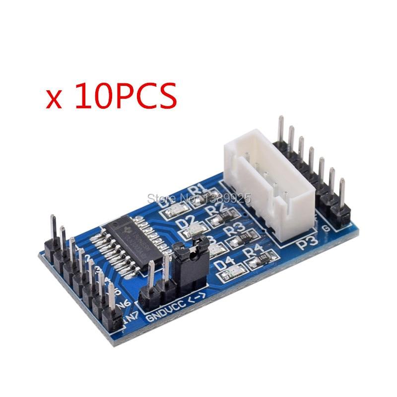 10pcs/lot Blue PCB Board ULN2003 Driver Module Stepper Motor Driver Board Chip Top Sale