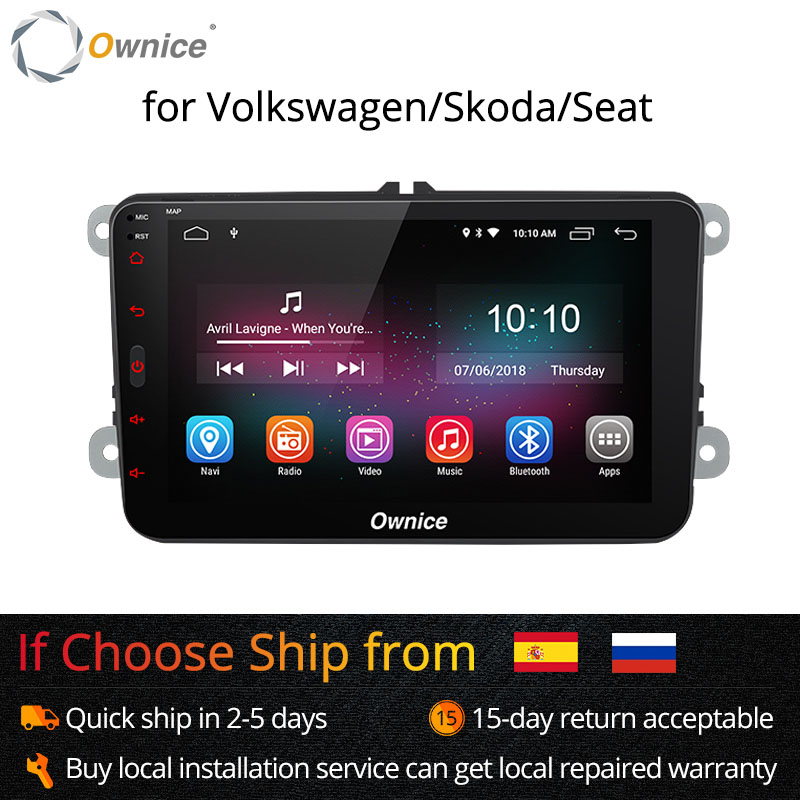 Ownice K1 K2 Android 8.1 main libre bluetooth Universel 2 Din autoradio GPS pour Volkswagen/Skoda/Seat