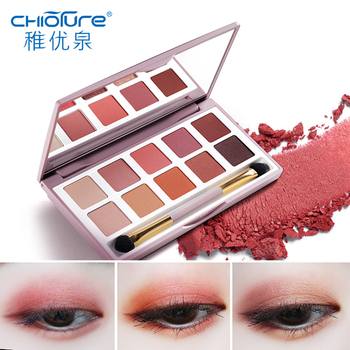 CHIOTURE 10 Colors Matte Shimmer Glitter Eyeshadow Pallete Eye Shadow Makeup Make Up Palette Maquillage Paleta De Sombra eye shadow