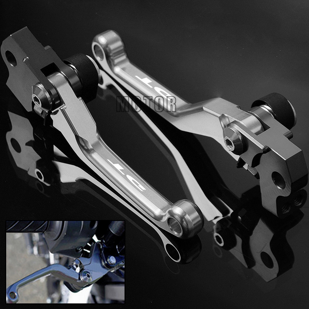 Pit Pivot dirt bike Brake Clutch Levers CNC Motocross For <font><b>YAMAHA</b></font> DT125 1987-2005 DT200 1988-1994 DT230 1997-1999 <font><b>DT</b></font> 125 200 230 image