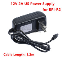 Original Banana Pi R2 12V 2A US Plug Power Supply / Adapter Free Shipping