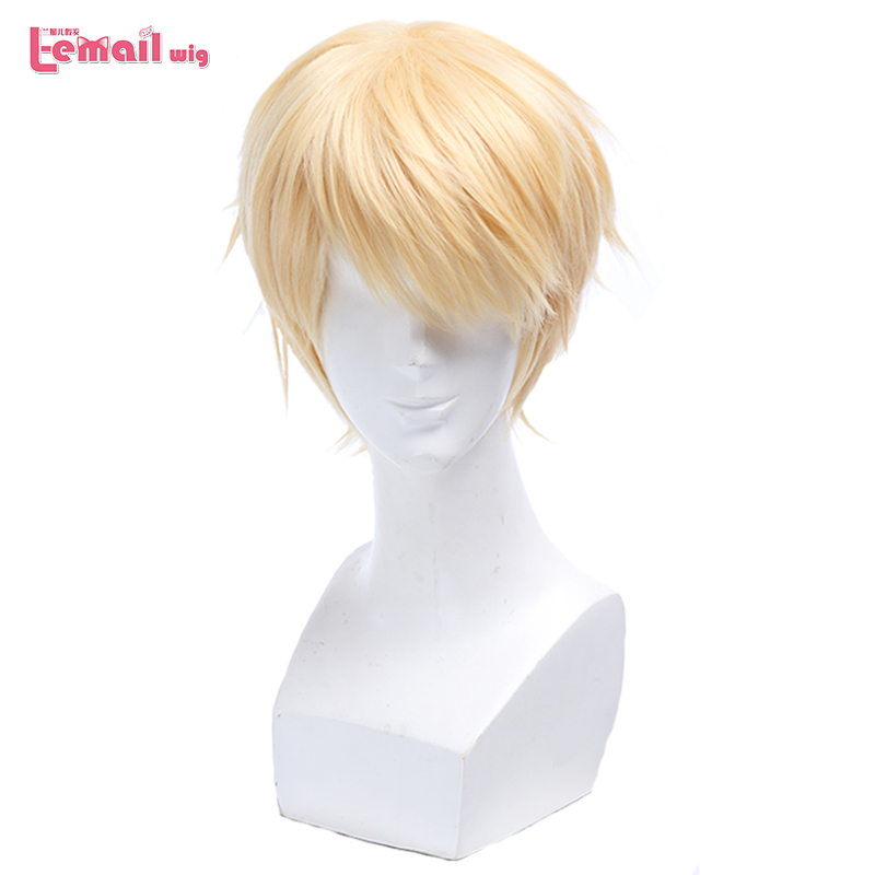 L-email Wig Seraph Of The End Mikaela Hyakuya Cosplay Wigs 30cm Short Heat Resistant Synthetic Hair Perucas Cosplay Wig