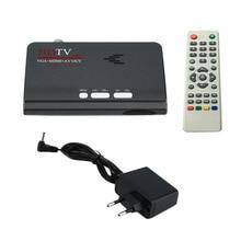 EU Digital Terrestrial 1080P DVB-T/T2 TV Box VGA AV CVBS Tuner Receiver With Remote Control HD 1080P VGA DVB-T2 TV Box