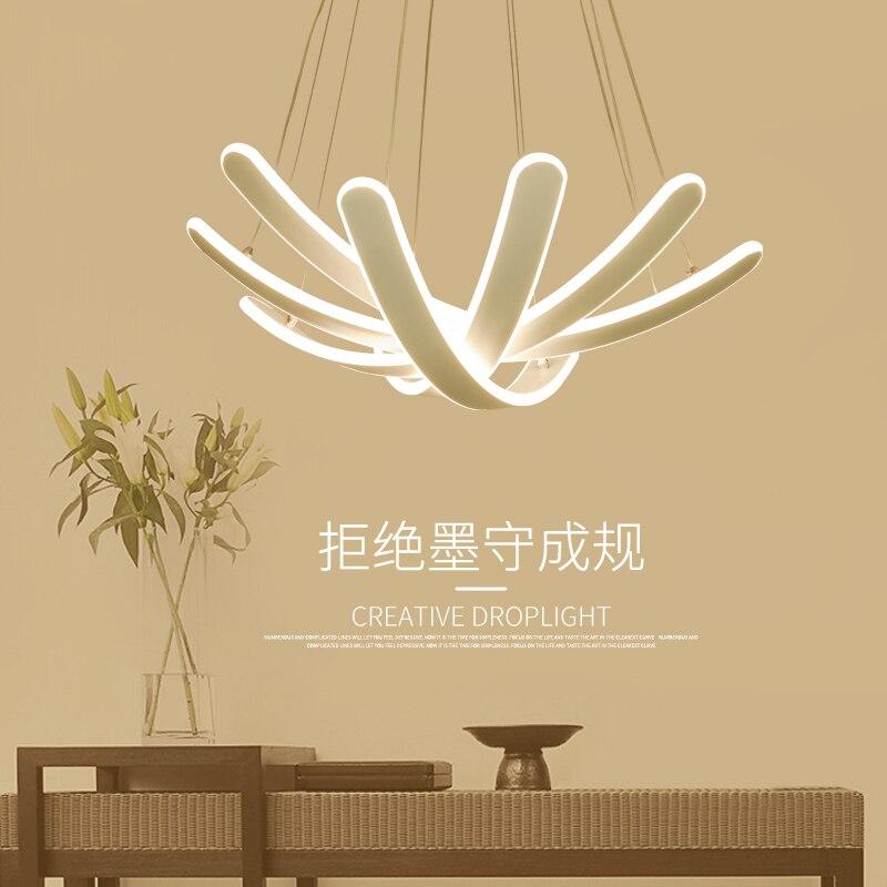 Restaurant chandelier led modern minimalist art personality bedroom chandelier, Scandinavian study lamps lighting