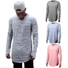 Hirigin 2017 Fashion Men's Slim Crew Neck Long Sleeve Muscle T-shirt Cotton Long Sleeve O-Neck T-Shirt Autumn/Sprint Outwear New