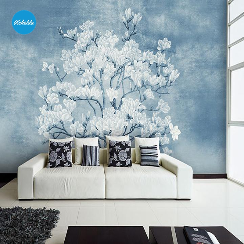 XCHELDA Custom 3D Wallpaper Design White Peach Photo Kitchen Bedroom Living Room Wall Murals Papel De Parede Para Quarto xchelda custom 3d wallpaper design buds and butterflies photo kitchen bedroom living room wall murals papel de parede