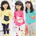 Children's Clothing Set Girls Clothes Suits Twinset 2016 Spring And Autumn 3 4 5 6 7 Long Sleeve Length Pants Set