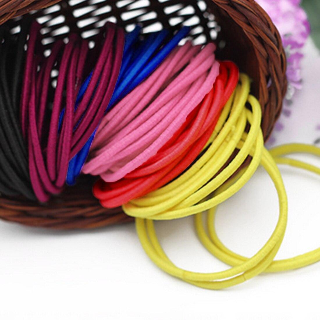 Korean 50pcs pack Women Elastic Rubberbands Hair Band Hair Ties Rings Gum Maker Scrunchy Colorful Girls Hair Accessories 2018 in Women 39 s Hair Accessories from Apparel Accessories
