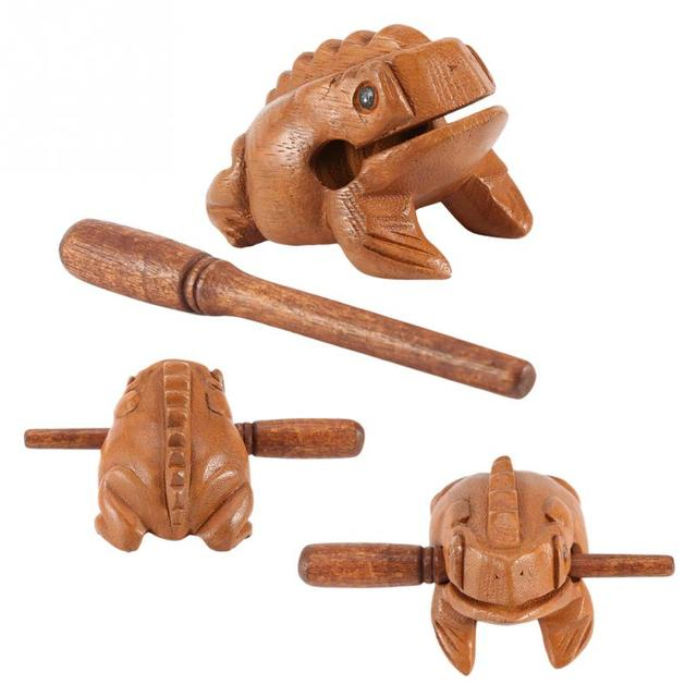 Thailand Traditional Craft Wooden Lucky Frog Croaking Musical Instrument Home Office Decorative Miniatures 5