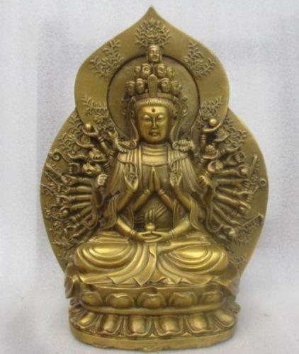 Chinas copper sculpture of guanyin bodhisattva figure of Buddha metal handicraftChinas copper sculpture of guanyin bodhisattva figure of Buddha metal handicraft