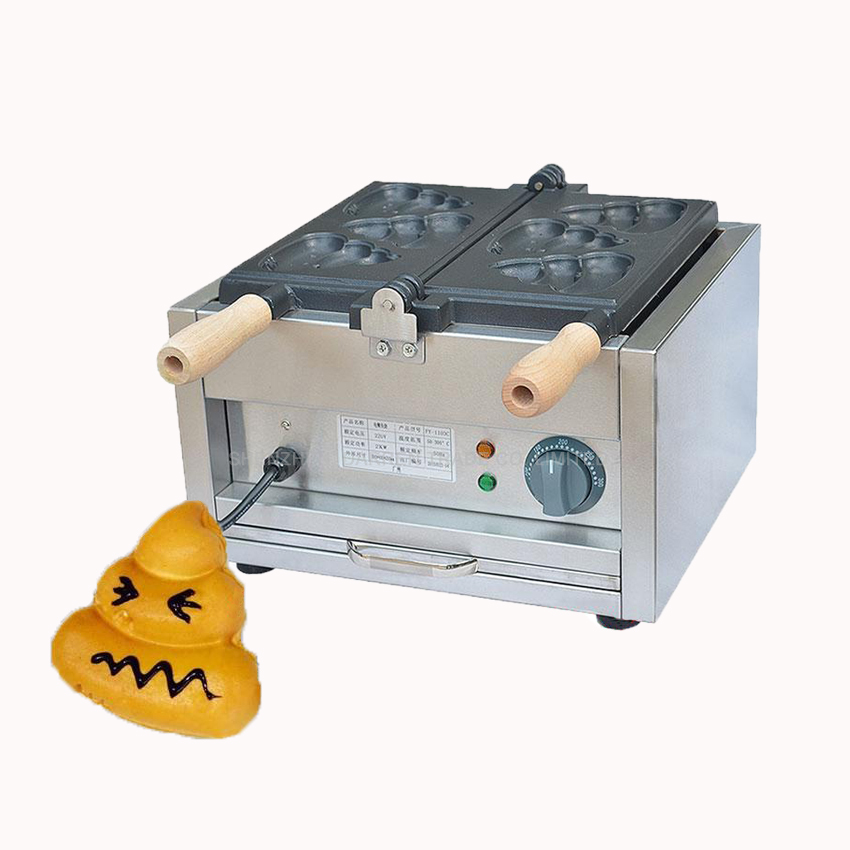 1PC Electric poo burn shape waffle machine scones machine Commercial FY-1103C poo muffin machine non-stick coating носки низкие toy machine poo poo head ankle brown 1065626