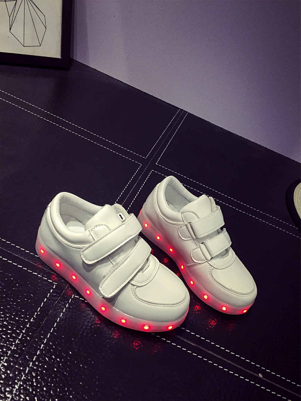 Led Sneakers Classic Strap Kids 2
