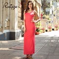 RUIYIGE casual solid holiday beach work  new sexy plus size  O neck  evening  women long maxi summer sleeveless dress vestito