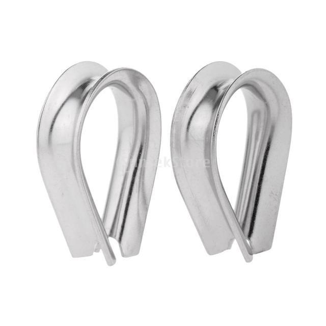 2 Pieces/Set 304 Stainless Steel Triangle Thimbles Cable Wire Rope ...