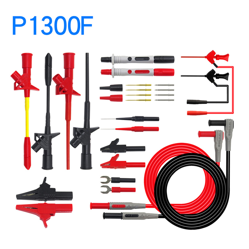 Image 4 - Cleqee Multifunctional Multimeter Probe Kit Piercing IC Test Hook Lead Needle 4mm Banana Plug Alligator Clip stick Clamp-in Instrument Parts & Accessories from Tools