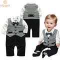 2016 Baby Boys Rompers Autumn & Spring Gentleman Style Infantile One-Pieces England Style Brand Babies Kids Jumpsuits, HC594