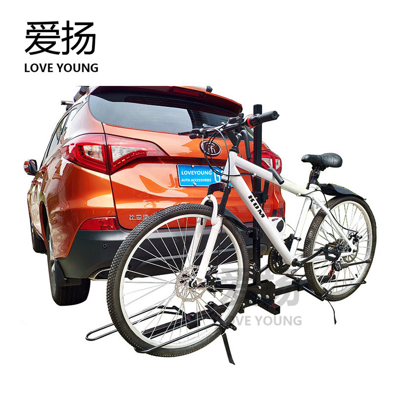 Bike Carrier Platform Hitch Mount Bicycle Rack Fit 2inch & 1-1/4inch Receiver