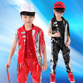 20pcs/lot Free Shipping New Sequin Hip Hop Dance Costumes Tassel Jazz Clothes Children Girls Boys Stage Ballroom Dance Wear