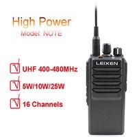 High power Long talk Range UHF 2 way Radio LEIXEN NOTE 400 480MHz Long Distance Ham Two Way Radio with cooling fan professio