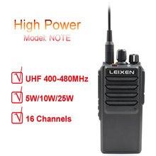 Высокомощная дальняя радиосвязь UHF 2 way Radio LEIXEN NOTE 400 480MHz радиосвязь на дальние расстояния двухстороннее радио с охлаждающим вентилятором профессиональный