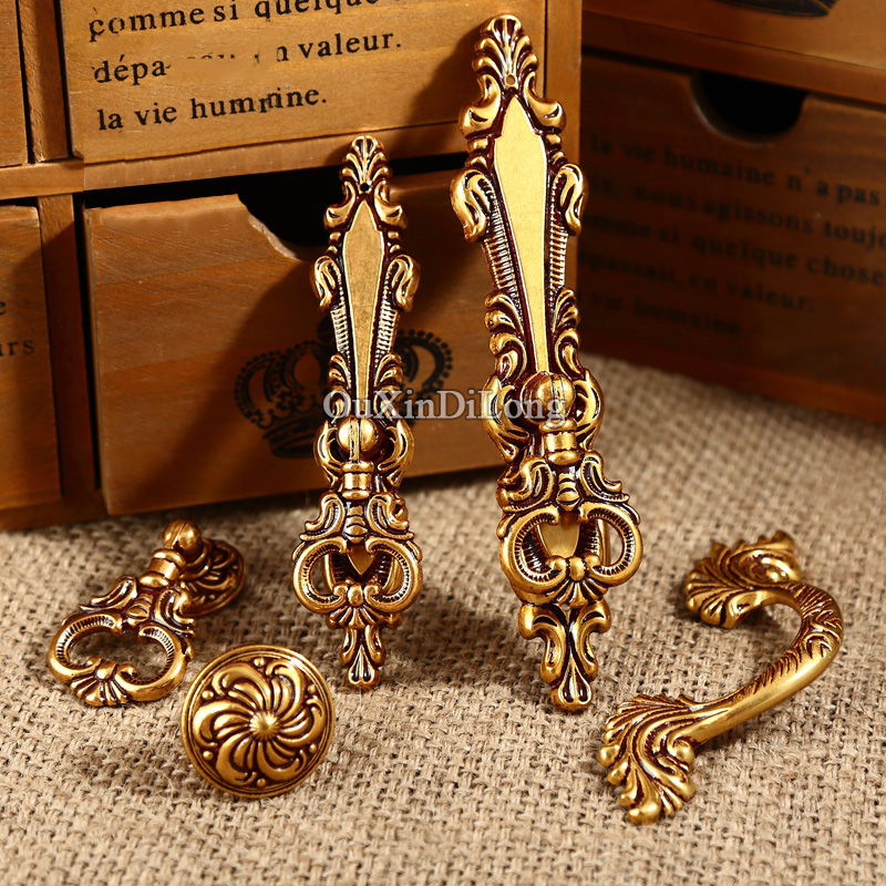 Top Designed 10PCS Furniture Handles European Vintage Style Drawer Wardrobe Cupboard Kitchen Cabinet Door Pulls Handles Knobs
