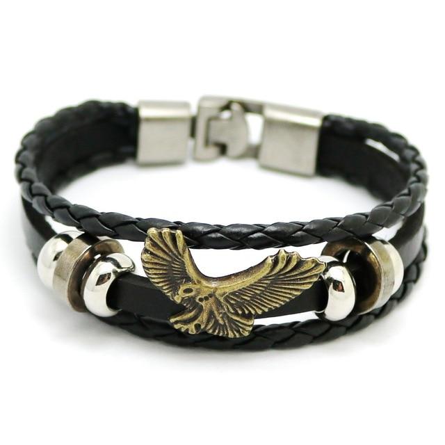 Eagle Men S Bracelet 2017 Vintage Jewelry Hand Woven Bracelets Fashion Casual For