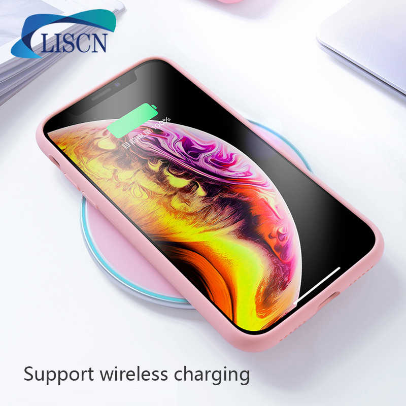 LISCN الأصلي الصلبة اللون سيليكون الهاتف حافظة لهاتف huawei P30 P30 الموالية زميله 20 لايت P الذكية 2019 حلوى لينة اللون حالة