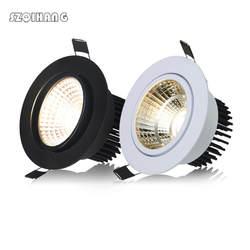 Затемнения светодиодные светильники удара пятно света 7 Вт 10 Вт 15 Вт 20 Вт белый корпус черный корпус утопленные фары лампы Освещение в