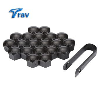 20pcs 19mm Vehicle Auto Car Wheel Lug Bolt Nut Cover Cap+Removal Tool For Audi/VW image