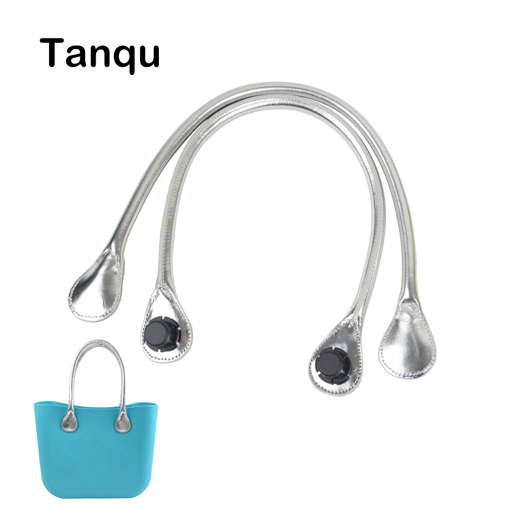 TANQU short long shiny Silvery Golden handle for Obag Handles for Classic Mini O