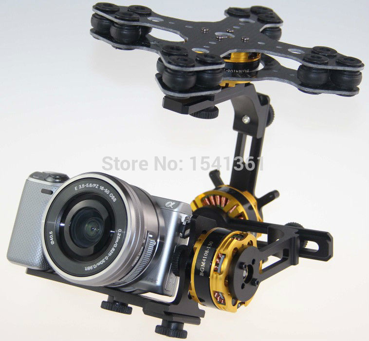 DYS 3 Axis Gimbal Mount Kit + 3pcs 4108 Brushless Motor For Sony Canon 5N 5R NEX Camera Photography Aerial FPV запчасти и аксессуары для радиоуправляемых игрушек 2015 3 ptz dys w 4108 evvgc nex ildc dys 3 axis