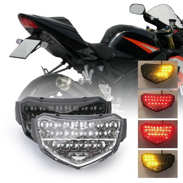 Suzuki GSXR 750 Tail Light LED 2000-2002 2003 Integrated Turn Signal Brake Smoke